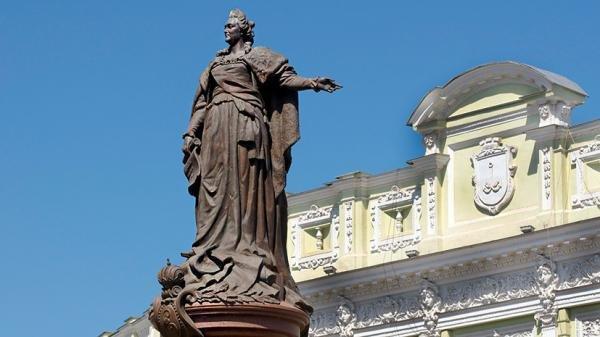 """Именем Украины: памятник Екатерине II в Одессе останется на своём месте - """"спор решён"""""""
