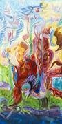 Circus and the Steady Dancer. 2013, acrylic on canvas 48x24. Available