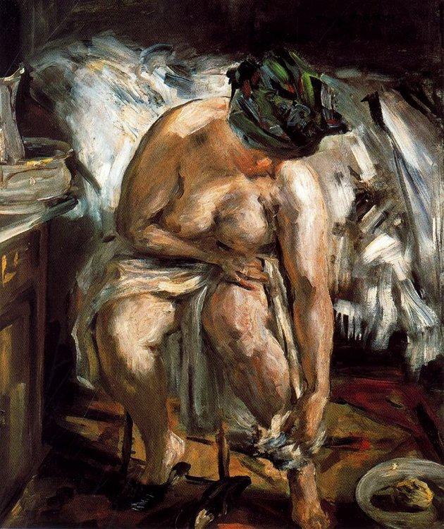Ловис Коринт. Женщина вытирает ноги