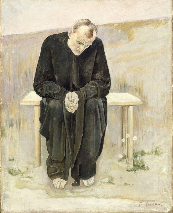 """""""Человек, лишившийся иллюзий"""" Фердинанд Ходлер, 1892 год"""