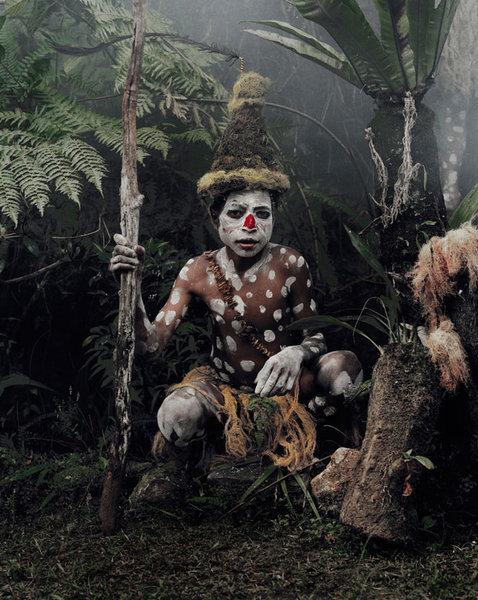 Представитель племени Горока из Папуа Новой Гвинеи
