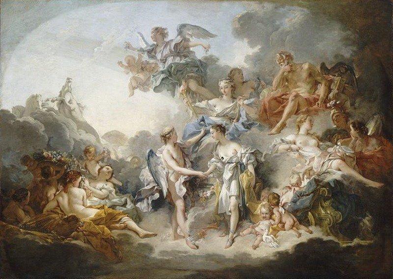 Свадьба Амура и Психеи, Франсуа Буше.