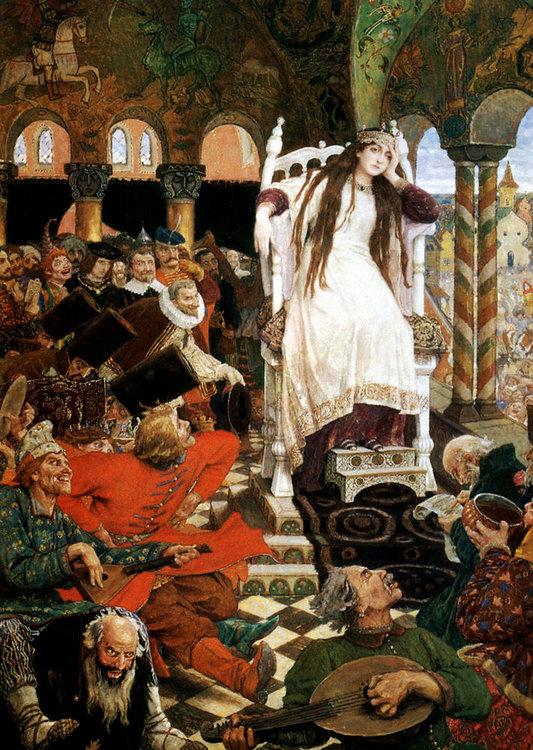«В гостях у сказки» сказочные персонажи на полотнах художников Васнецова и Билибина, фото № 8