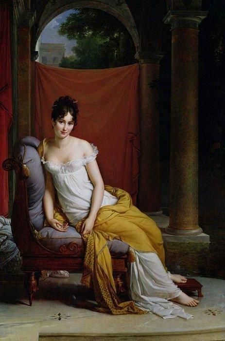 Мадам Рекамье (1777-1849). Франсуа Паскаль Симон Жерар | Sanat ...
