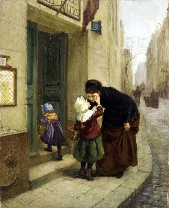 Charles Edouard Frere (French, 1837-1894) - Au revoir