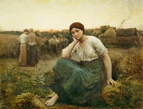 Jules Breton - Le soir 1860 Huile sur toile | Jules breton, Breton ...
