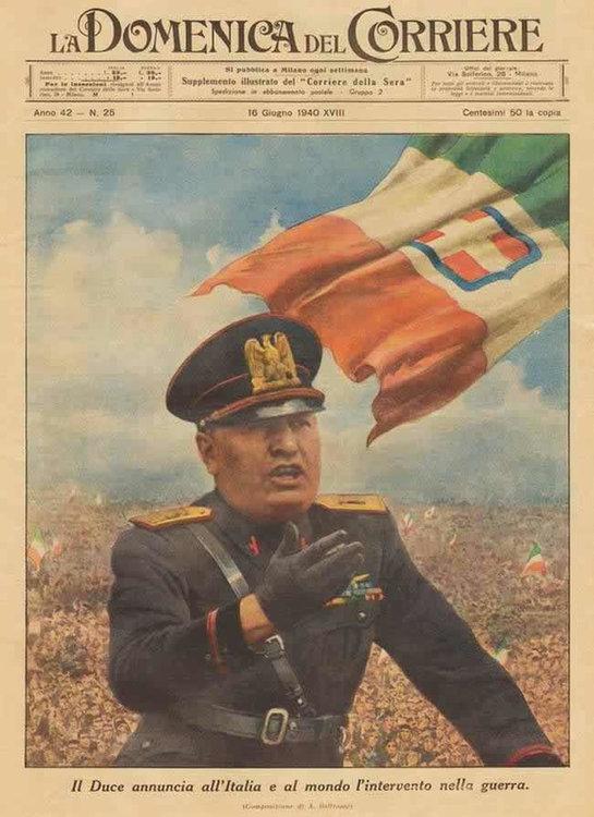 10 июня 1940 года — Италия вступила во Вторую Мировую войну на стороне  Германии, объявив войну Франции и Великобритании — Маленькие истории