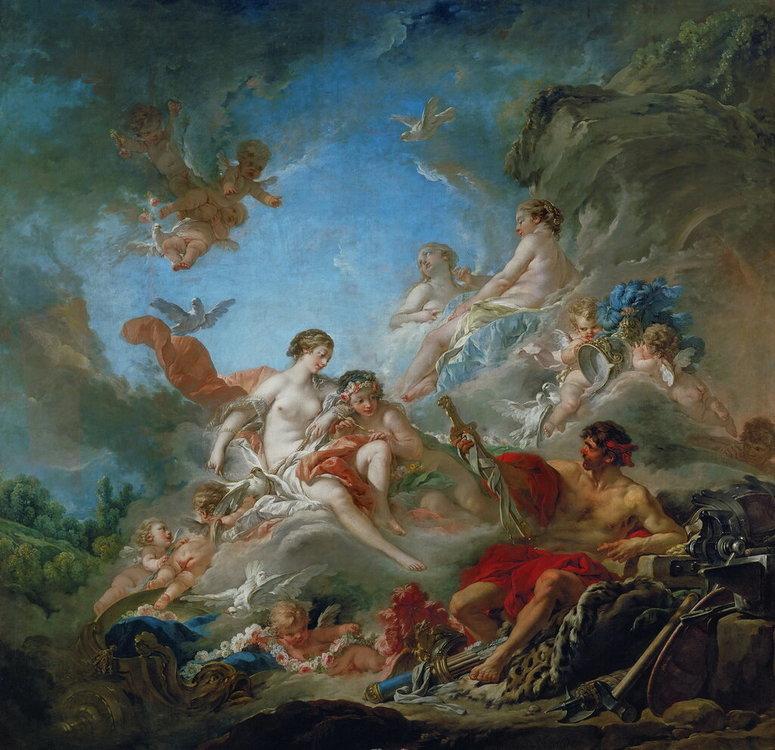 84.Вулкан вручает оружие Венере для Энея (1757) (320 х 320) (Париж, Лувр).jpg