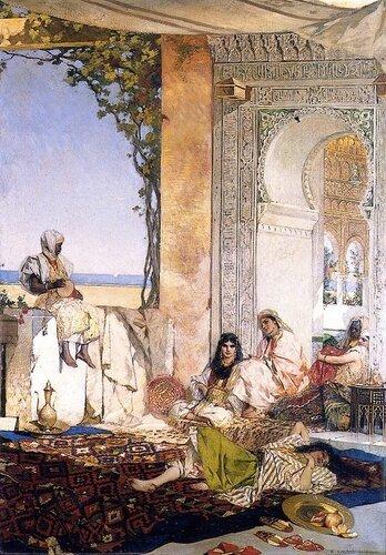 Benjamin Constant - Women of the Harem, Morocco