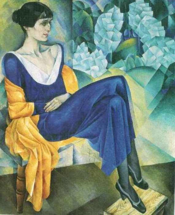 Н. Альтман. А. Ахматова, 1914