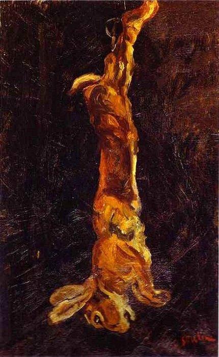 Висячий заяц. (1923). Автор: Хаим Сутин.