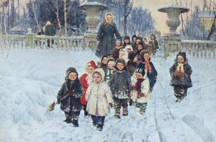 Счастливое детство глазами советских художников | Русские мы