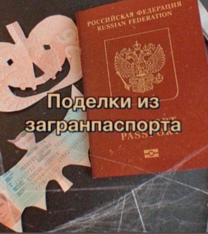 На изображении может находиться: текст «POC RUSSIAN ссийская FEDERATION федерация поделки из загранпаспорта PASS»