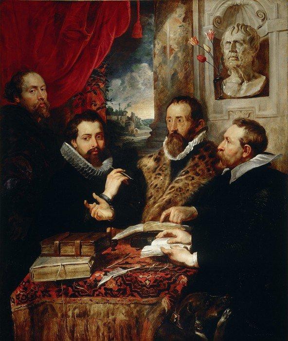 Четыре философа (автопортрет с братом Филиппом и друзьями). Питер Пауль Рубенс