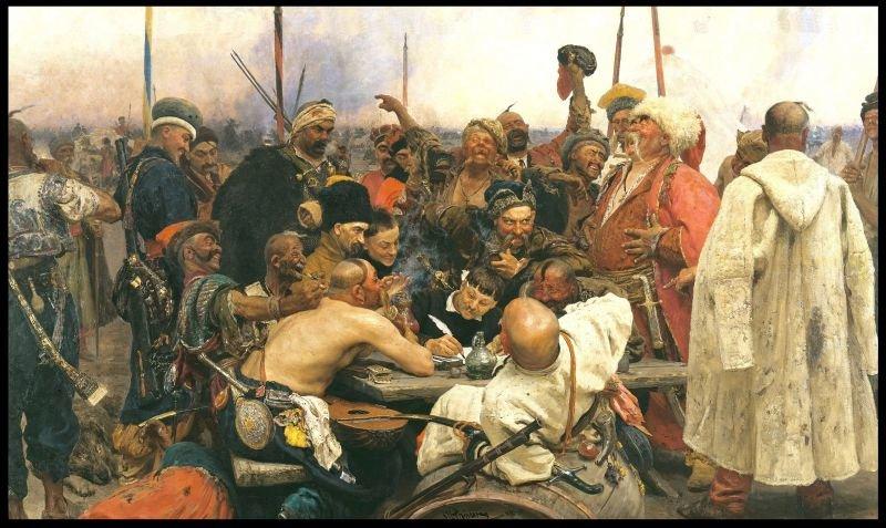 Оригинальные предметы с картины Репина «Запорожцы пишут письмо ...