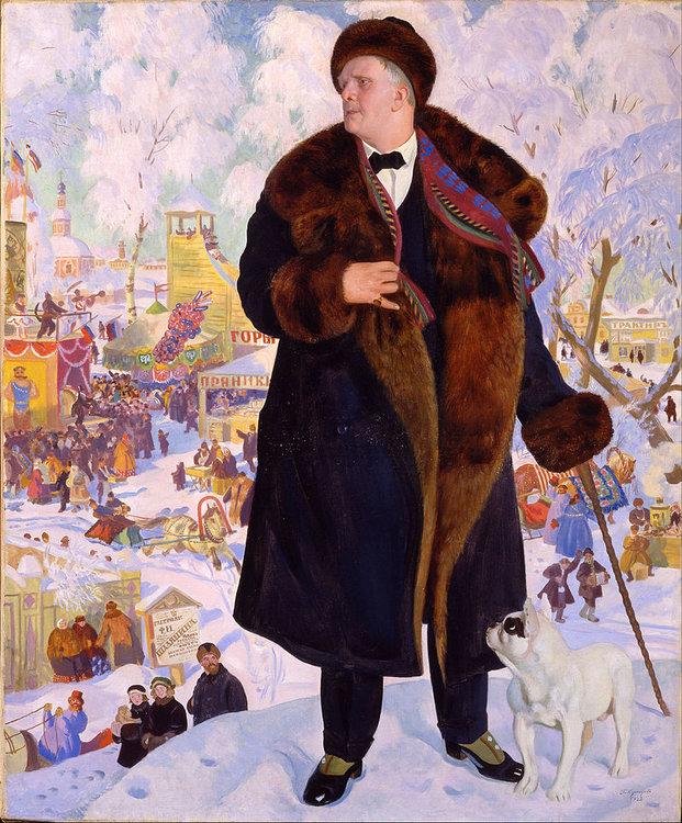 Boris Kustodiev - Portrait of Fyodor Chaliapin - Google Art Project.jpg