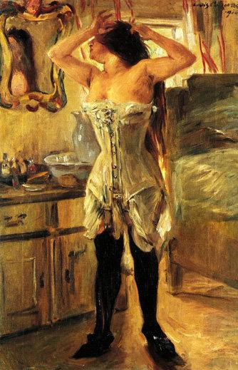 In a Corset, 1910 - Ловис Коринт
