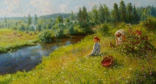 Ягодное лето - картина В.Ю.Жданова