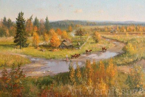 Золотая пора картина В.Ю.Жданова