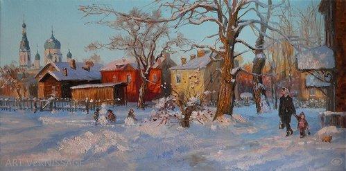 Свежий снег - картина В.Ю.Жданова