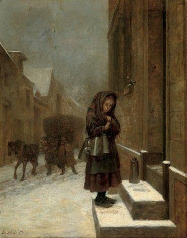 The little milkmaid par Charles Edouard Frère sur artnet