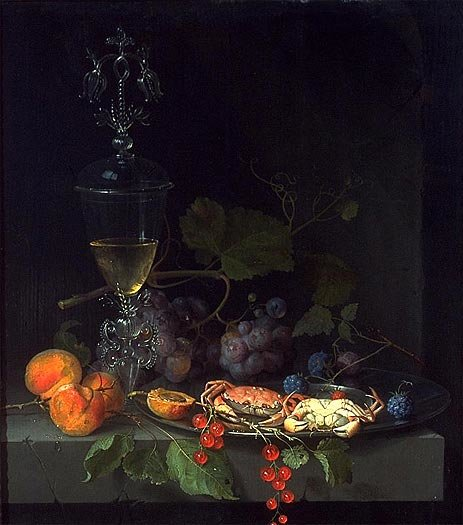 Abraham Mignon   Still Life with Crabs on a Pewter Plate   Giclée ...